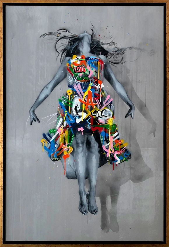 "Martin Whatson ""fix the sky"" Artwork on canvas"