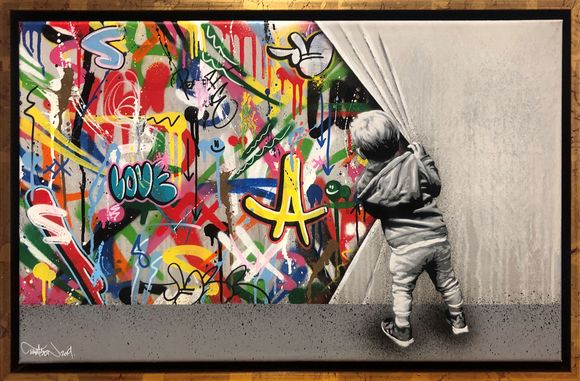 "Martin Whatson ""Beyond the wall"" Artwork on canvas"