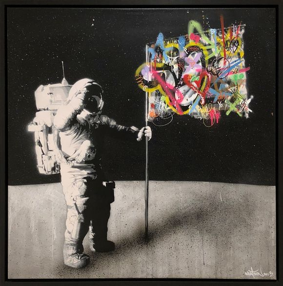 "Martin Whatson ""one small step"" Artwork on canvas"