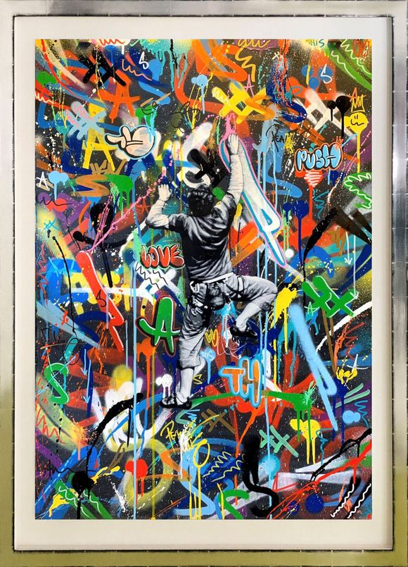 "Martin Whatson ""climber"" Artwork on paper"