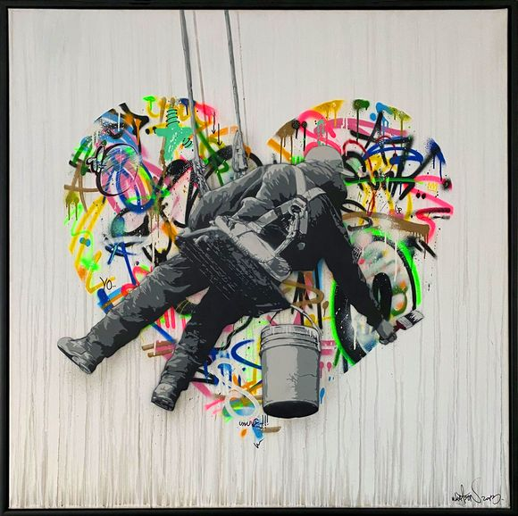 "Martin Whatson ""make love"" Artwork on canvas"