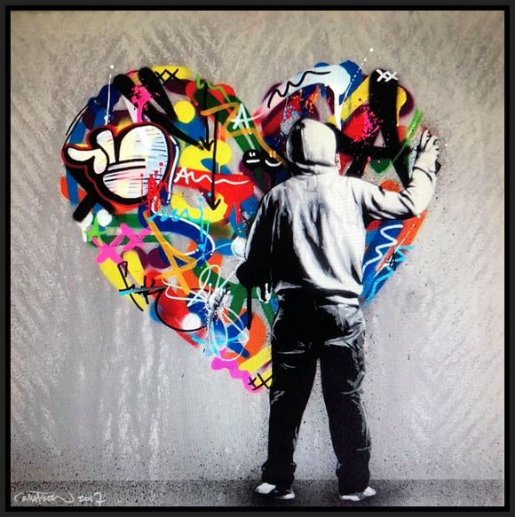 "Martin Whatson ""Paint Love"" Artwork on canvas"