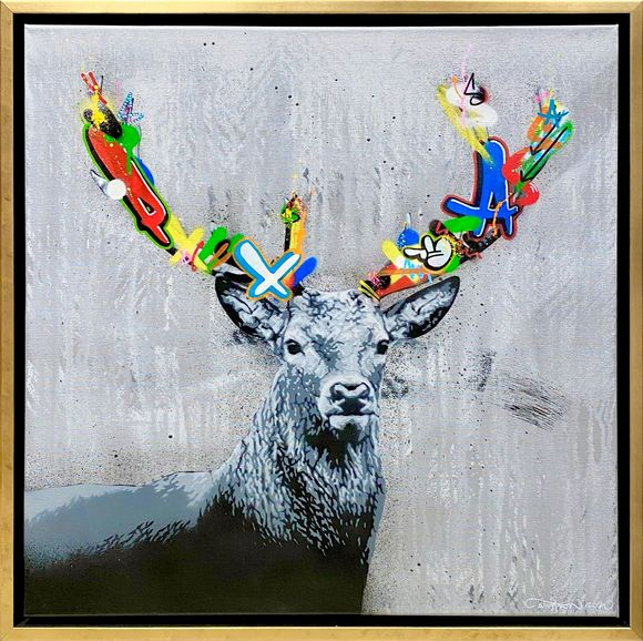 "Martin Whatson ""Stag"" Artwork on canvas"